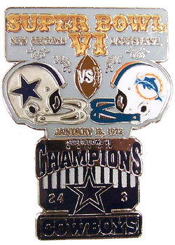 Super Bowl VI (6) Oversized Commemorative Pin