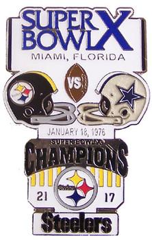Super Bowl X (10) Oversized Commemorative Pin