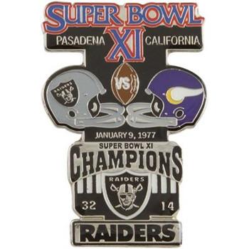 Super Bowl XI (11) Oversized Commemorative Pin