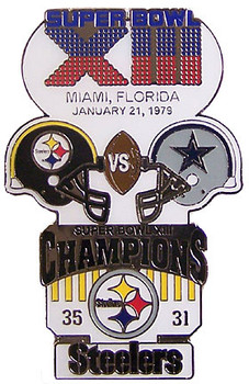 Super Bowl XIII (13) Oversized Commemorative Pin