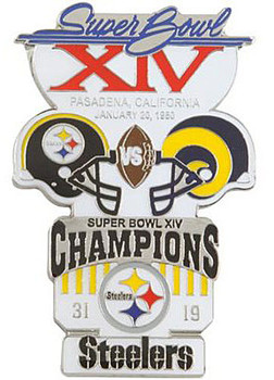 Super Bowl XIV (14) Oversized Commemorative Pin