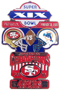 Super Bowl XIX (19) Oversized Commemorative Pin