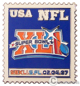 Super Bowl XLI (41) Stamp Pin