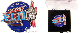 Super Bowl XLII (42) 3-D Player Pin - Limited 2,008