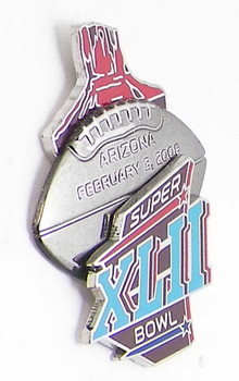Super Bowl XLII (42) Arizona Game Ball 3-D Pin - Limited 2,008