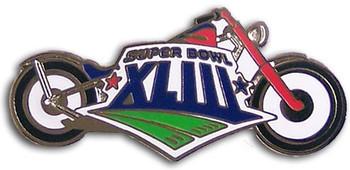 Super Bowl XLIII (43) Motorcycle Pin