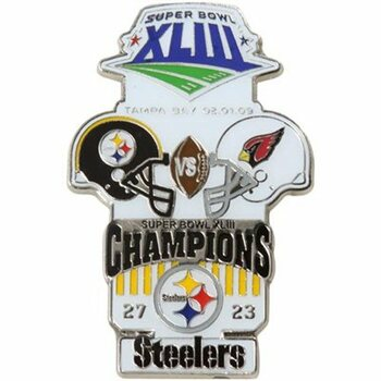 Super Bowl XLIII (43) Oversized Commemorative Pin