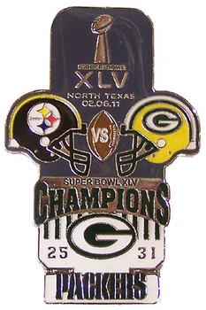 Super Bowl XLV (45) Oversized Commemorative Pin