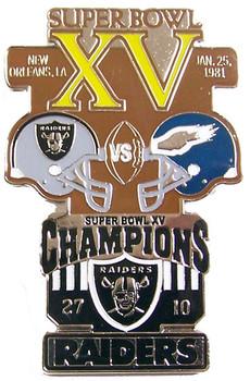 Super Bowl XV (15) Oversized Commemorative Pin