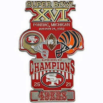 Super Bowl XVI (16) Oversized Commemorative Pin