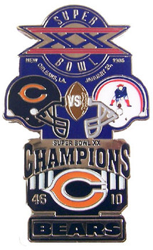 Super Bowl XX (20) Oversized Commemorative Pin