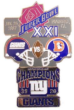 Super Bowl XXI (21) Oversized Commemorative Pin