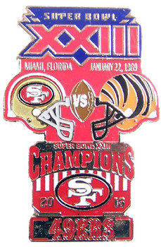 Super Bowl XXIII (23) Oversized Commemorative Pin