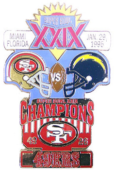 Super Bowl XXIX (29) Oversized Commemorative Pin
