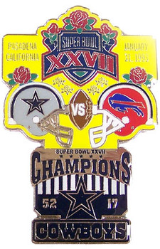 Super Bowl XXVII (27) Oversized Commemorative Pin