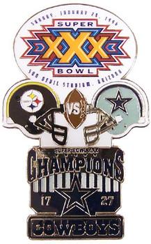 Super Bowl XXX (30) Oversized Commemorative Pin