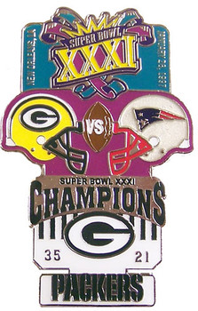 Super Bowl XXXI (31) Oversized Commemorative Pin
