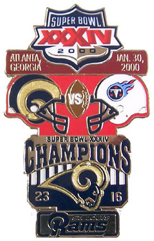Super Bowl XXXIV (34) Oversized Commemorative Pin