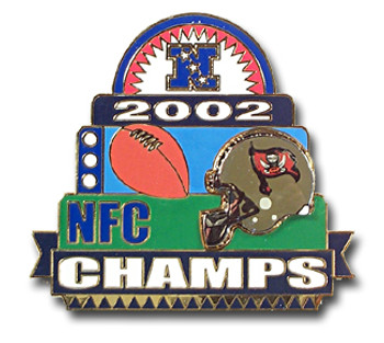 Tampa Bay Buccaneers Oversized NFC Champs Pin