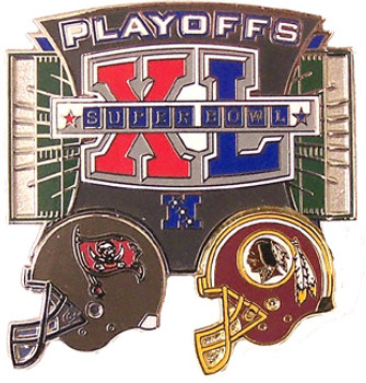 Tampa Bay Buccaneers vs. Washington Redskins 2006 NFL Playoff Pin