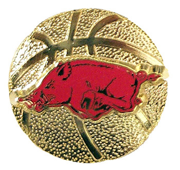 Arkansas Basketball Pin
