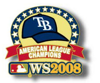 Tampa Bay Rays 2008 AL Champs Pin - Design #1