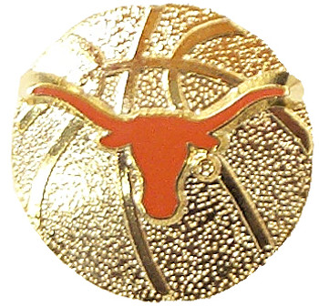 Texas Basketball Pin