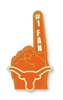 Texas #1 Fan Pin