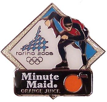 Torino 2006 Olympics Minute Maid Speed Skating Pin