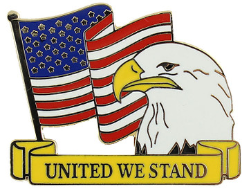 United We Stand Flag Pin