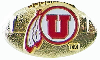 University of Utah 3-D Football Pin