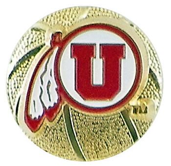 University of Utah 3-D Basketball Pin