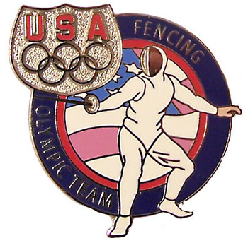 USA Fencing Olympic Team Pin