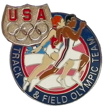 USA Olympic Team Athletes Track & Field Pin