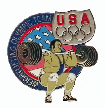 USA Olympic Team Athletes Weightlifting Pin
