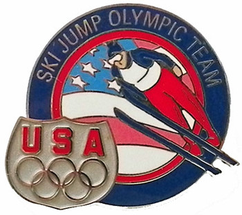 USA Olympic Team Ski Jump Pin