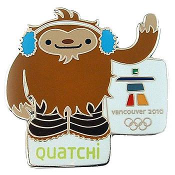 Vancouver 2010 Olympics Quatchi Mascot Pin