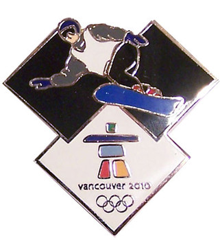Vancouver 2012 Olympics Snowboard Pin - Male