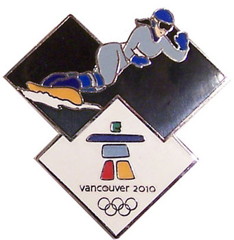 Vancouver 2010 OIympics Snowboard Pin - Female