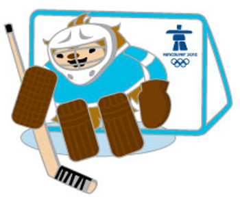 Vancouver 2010 Olympics Quatchi Hockey Pin
