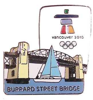 Vancouver 2010 Olympics Burrard St. Bridge Pin