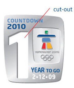 Vancouver 2010 Olympics One Year To Go Pin - Limited