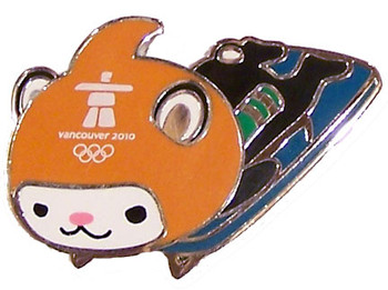 Vancouver 2010 Olympics Miga Skeleton Pin