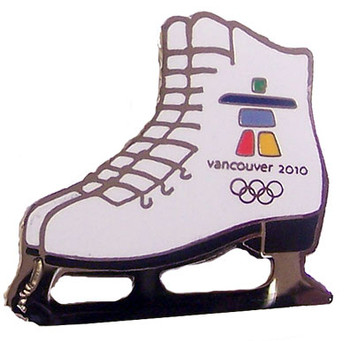 Vancouver 2010 Olympics Figure Skate Pin