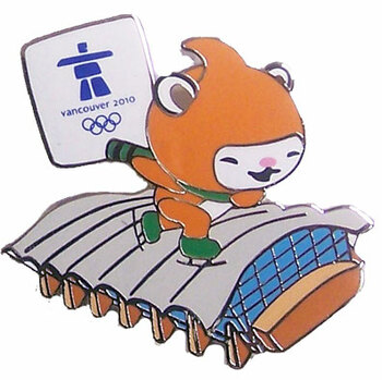 Vancouver 2010 Olympics Miga at Richmond Oval Pin
