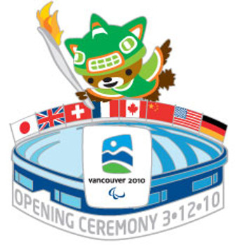 Vancouver 2010 Paralympic Opening Ceremony Pin - Oversized