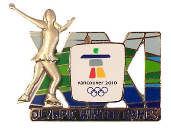 Vancouver 2010 Olympics XXI Winter Games Skating Double Pin