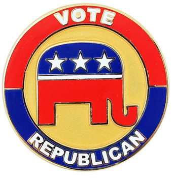 Vote Republican Party Lapel Pin