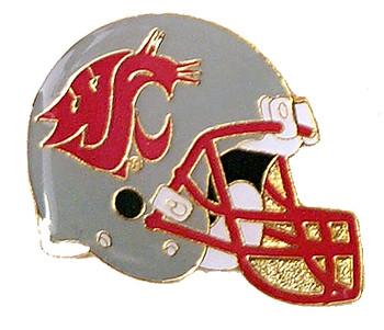 Washington State Football Helmet Pin