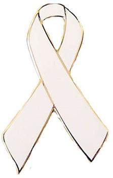 White Ribbon Awareness Pin